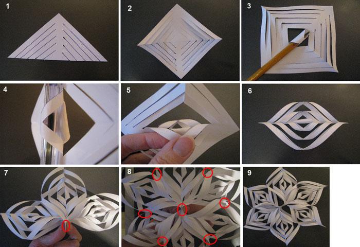 Как сделать снежинки своими руками из бумаги объемные